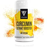 Kurkuma (Kurkumin) Kapseln mit Piperin 10 mg- hochkonzentriertes Curcumin- 250 mg aus Curcuma Wurzel - 60 Kapseln