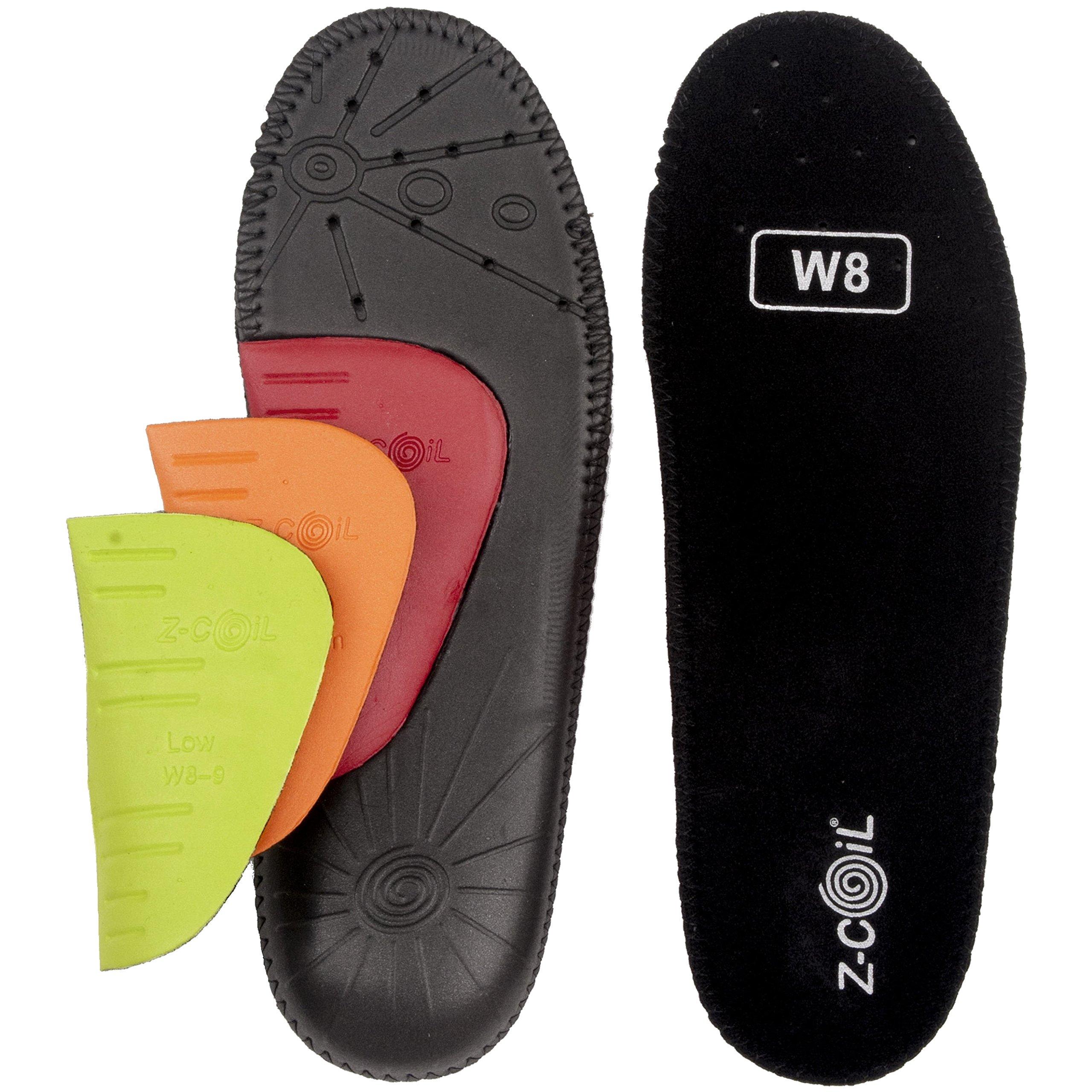 Z-CoiL Women's Z-Fit Black Custom Arch Insole (W 08, Black)