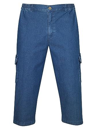 Herren Stretchjeans Bermuda 3//4 Hose  Caprihose Shorts ...Größe 29 bis 38