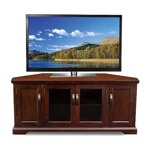 Leick Chocolate Cherry Corner TV Stand, 60