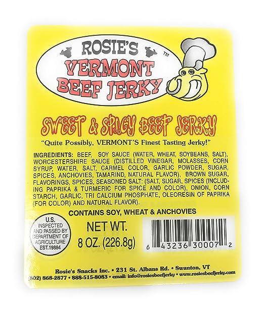 Rosies Vermont Jerky de carne de vacuno: Amazon.com ...