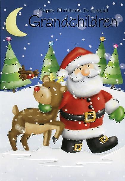 Auguri Di Natale Per Nipoti.Buon Natale A Speciali Nipoti Babbo Natale E Renne Di Natale Amazon It Cancelleria E Prodotti Per Ufficio