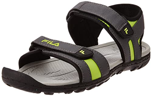 b8f4ef276d78b Fila Men s Alvise Grey and Green Sandals and Floaters -11 UK India (45 EU)   Buy Online at Low Prices in India - Amazon.in
