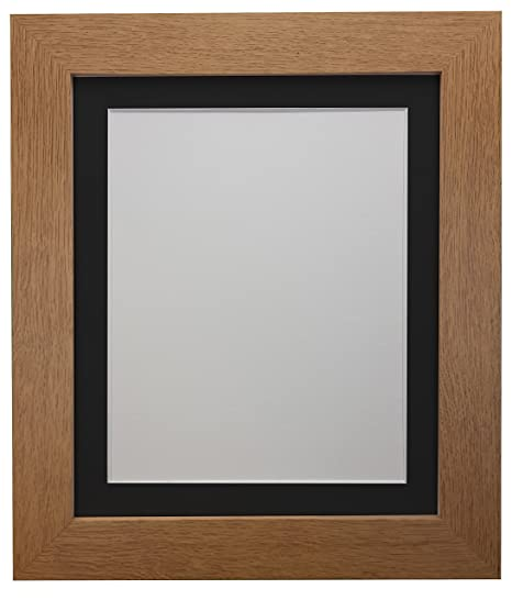 Frames By Post London Picture Photo Frame Oak With Black Mount 40