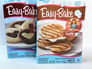 Easy Bake 2 Pk Combo S'mores Snacks, Sugar Cookie & Chocolate Cookie Mixes