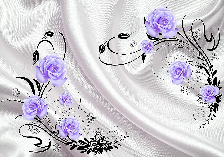 Wandmotiv24 Fototapete türkis türkis türkis Rosan Ornamenten Stofftuch Blaumen Kreise Tuch Seide M4095 XL 350 x 245 cm - 7 Teile Wandbild - Motivtapete B07NF1BJ88 Wandtattoos & Wandbilder d1e442