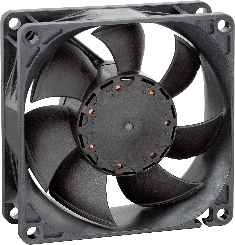 Ventiladores – Axial – Ventilador axial 80 mm 12 VDC 68,8 CFM ...