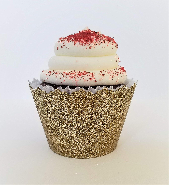 Adjustable Set of 12 Cupcake Wrappers Glitter Deep Teal