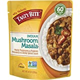 Tasty Bite Indian Entree Mushroom Masala 10 Ounce (Pack of 6), Fully Cooked Indian Entrée with Mushrooms & Potatoes in a Richly Spiced Sauce, Vegan, Gluten Free, Microwaveable, Ready to Eat