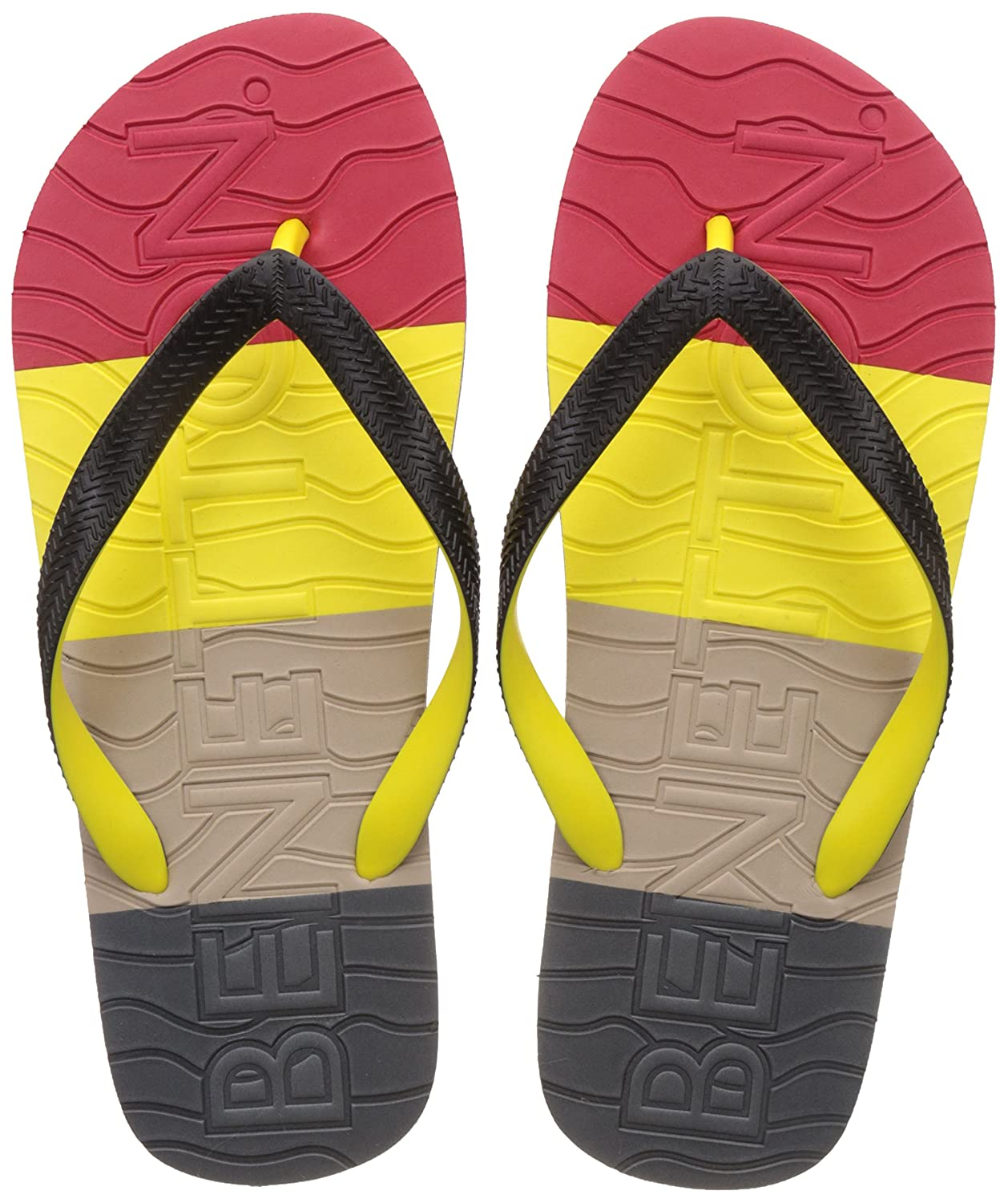 3e1fe39d5 United Colors of Benetton Men s Multicolor Flip-Flops and House Slippers -  9 UK India (43 EU)  Buy Online at Low Prices in India - Amazon.in