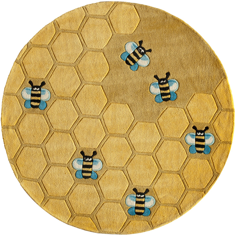 Amazon.com: Momeni Rugs LMOJULMJ15HCG2030 Lilu0027 Mo Whimsy Collection, Kids  Themed Hand Carved U0026 Tufted Area Rug, 2u0027 X 3u0027, Honeycomb Yellow: Kitchen U0026  Dining