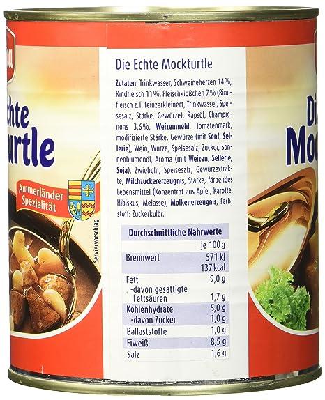 Meica Die Echte Mockturtle,tafelfertig, 2er Pack (2 x 800 g): Amazon ...