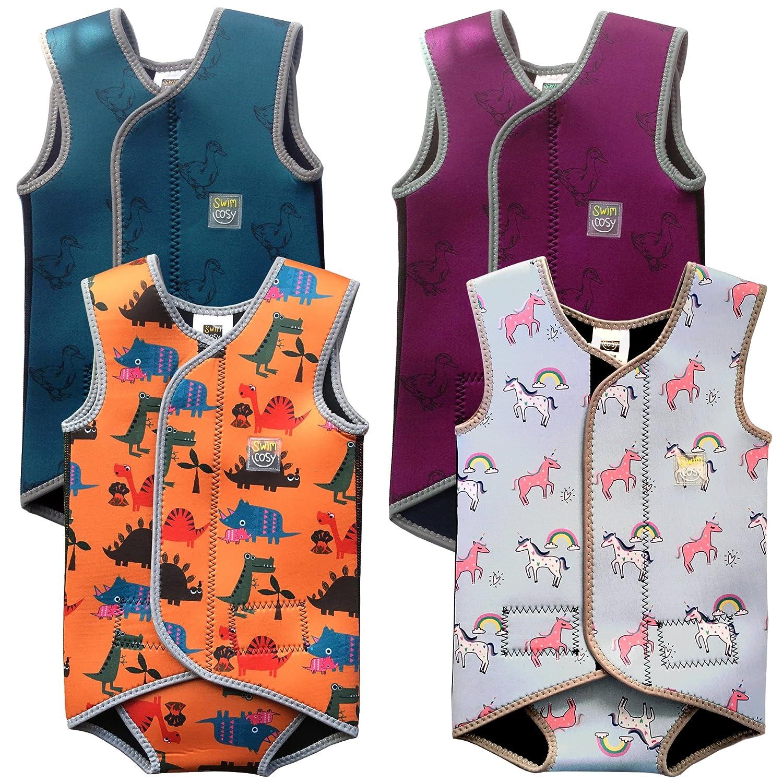 Swim Cosy Costume da bagno in neoprene per neonati Baby/Toddler Wetsuit Vest with UPF50 - Neoprene Wrap around design for Boys / Girls 0-3 Anni