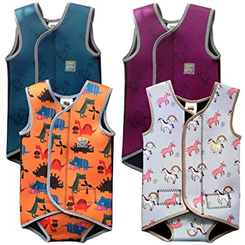 Swim Cosy Traje de Neopreno para niños 0-3 años Baby/Toddler Wetsuit Vest with UPF50 - Neoprene Wrap Around Design for Boys/Girls 0-3 Years