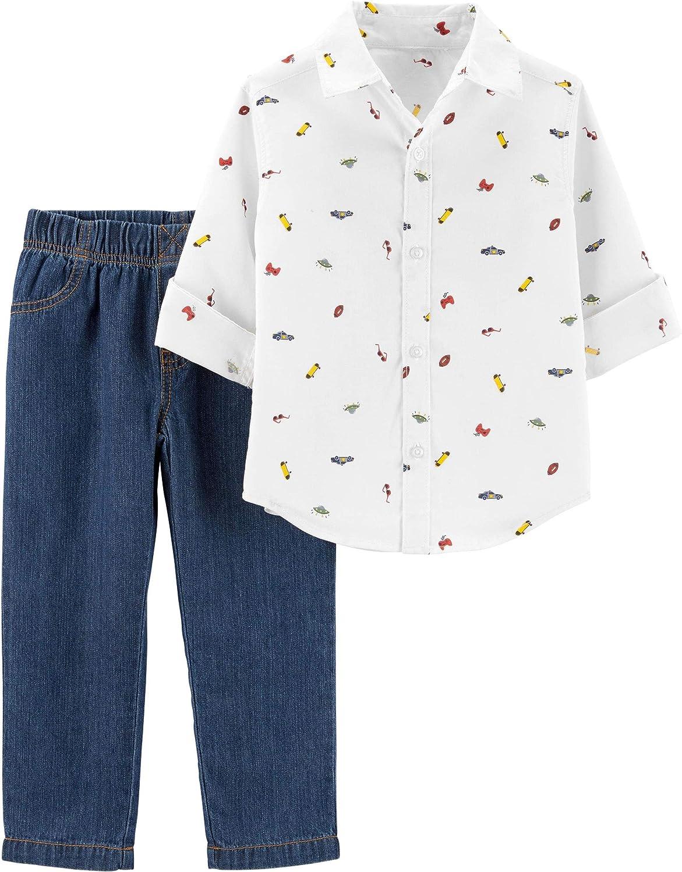 Nautica Boys Plaid Green /& Navy Shirt 2pc Pant Size 2T 3T 4T 4 5 6 7