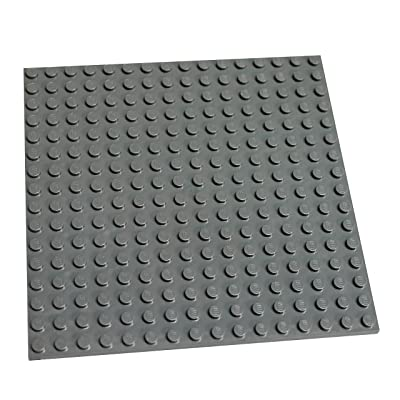 "LEGO Parts and Pieces: Dark Gray (Dark Stone Grey) 16x16 (4.8""x4.8"") Plate x1: Toys & Games"