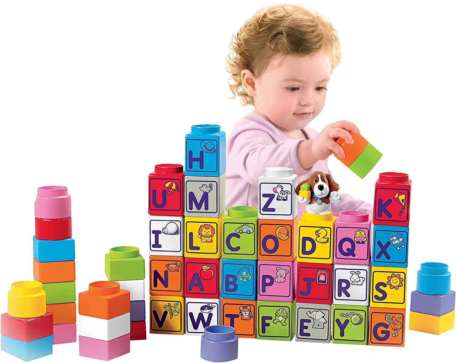 Fisher-Price Little People Builders Stack \'n Learn Alphabet Blocks ...
