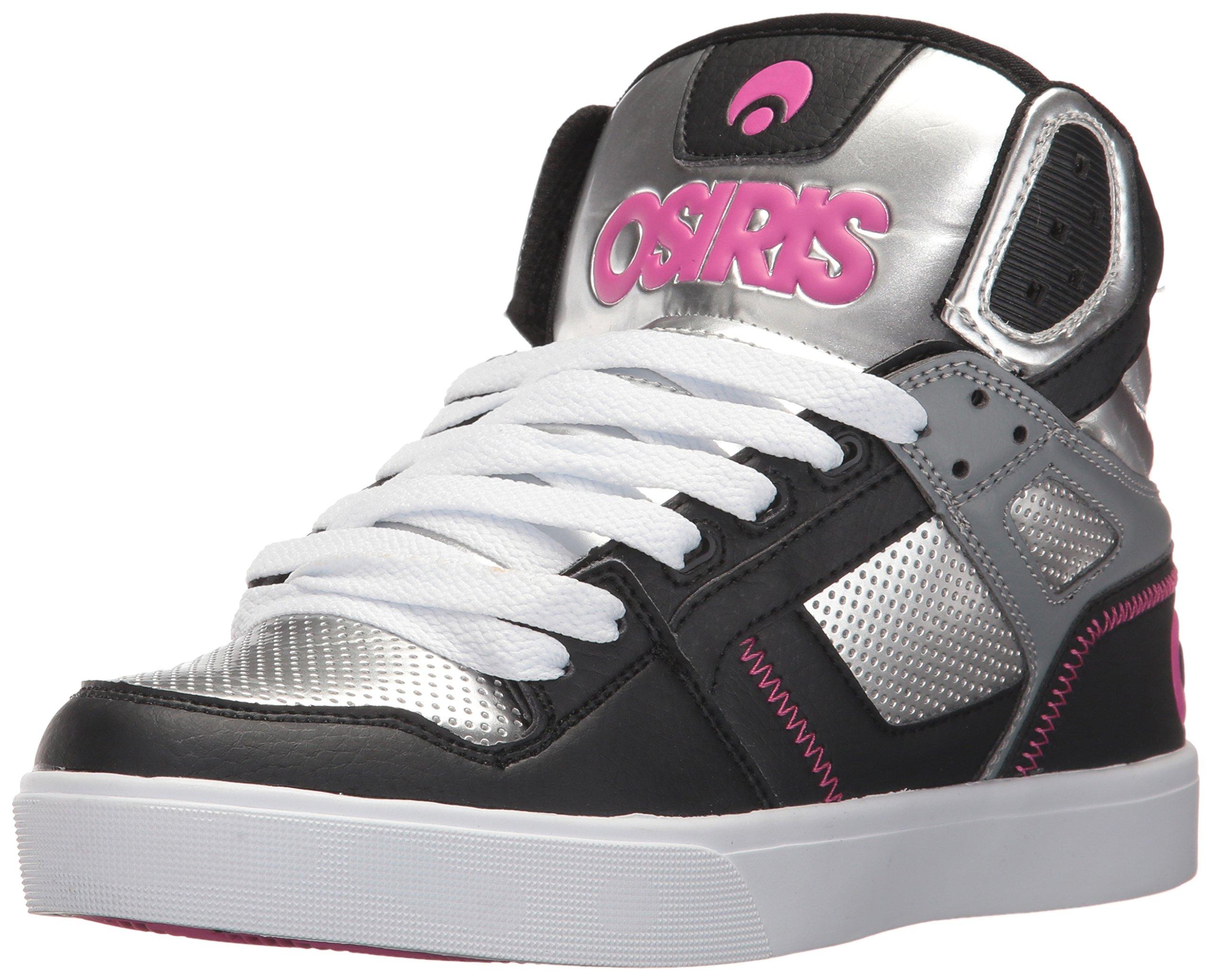 b9cb0f44d15 Galleon - Osiris Women's Clone Skate Shoe, Silver/Pink/Black, 6 M US