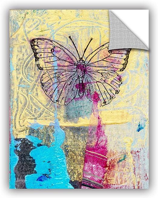 Pink//Yellow ArtWall Elana Rays Butterfly 18 x 24 Art Appeelz Removable Graphic Wall Art