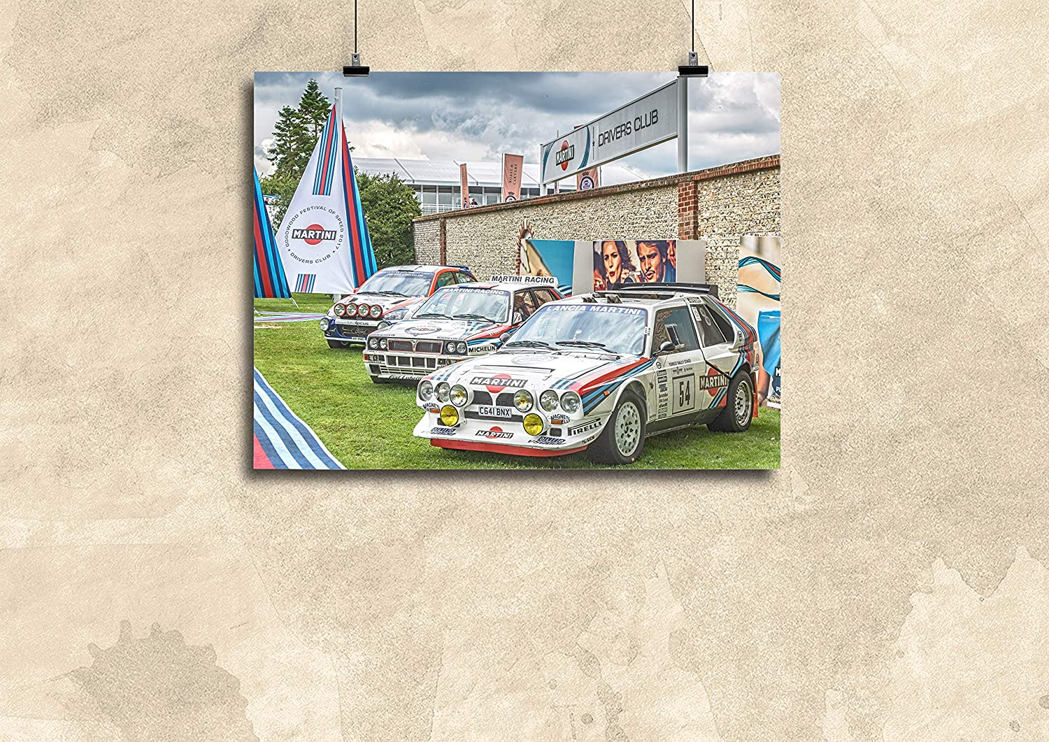 LANCIA  DELTA HF INTEGRALE RALLY POSTER RACING  PRINT CLASSIC CAR  LARGE WALL