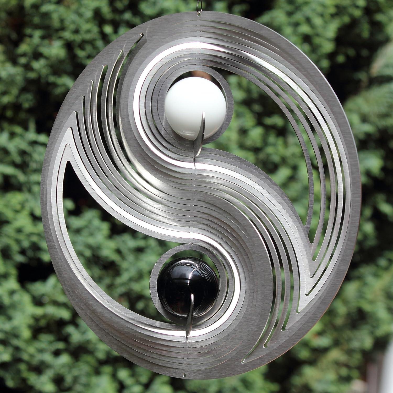 Windspiel Yin Yang mit Glaskugeln