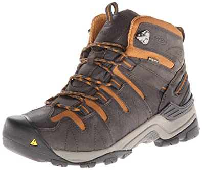 KEEN Men's Gypsum Mid Hiking Boot,Raven/Cathay Spice,7.5 M US
