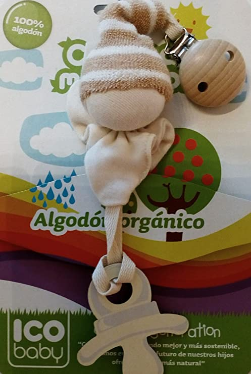 NOVICO MCA Cadenita Algodon Organico - Chupete- mordedor ...