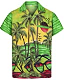 Red Star Mens Hawaiian Shirt Short Sleeve STAG Beach Holiday Sunglasses Style Fancy Dress Hawaii - All Sizes