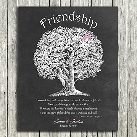 8x10 Unframed Print Personalized Gift For Friendship Best Friends Quote  From Winnie The Pooh By A. A.