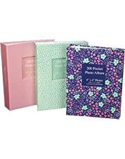 Tallon 6x4 Designer Photo Album with 200 Pockets (Random design cover will be selected).