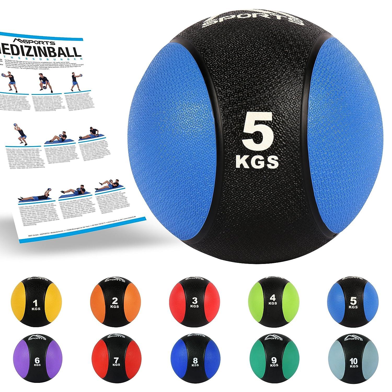Balón medicinal 1 - 10 kg - Calidad de gimnasio profesional ...