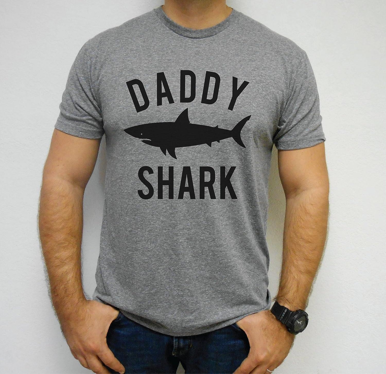 848e24b8a Amazon.com: Daddy Shark, Daddy Shark Shirt, Dad Shark T-Shirt, Shark Themed  Party Shirt, Family Shark Shirts, Daddy Shark T-Shirt, Tri-Blend Tee:  Handmade