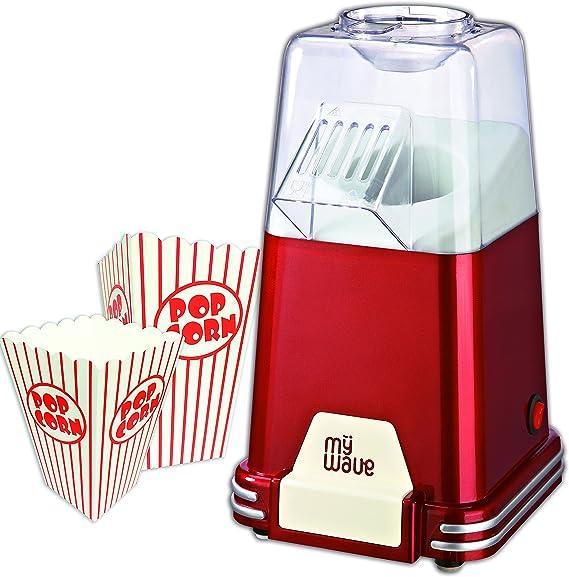 MyWave MWFC-PAL Palomitero Retro Incluye Vasos para Palomitas, 1100 W, Rojo: Amazon.es: Hogar