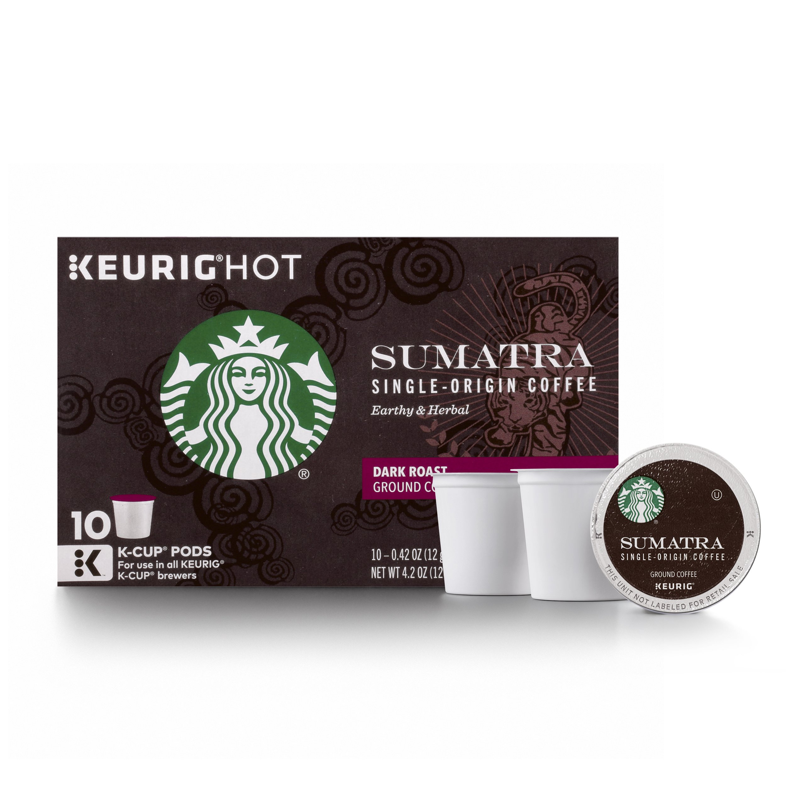 Starbucks Sumatra Dark Roast Single Cup Coffee for Keurig Brewers, 6 Boxes of 10 (60 Total K-Cup pods) (Pack of 6)