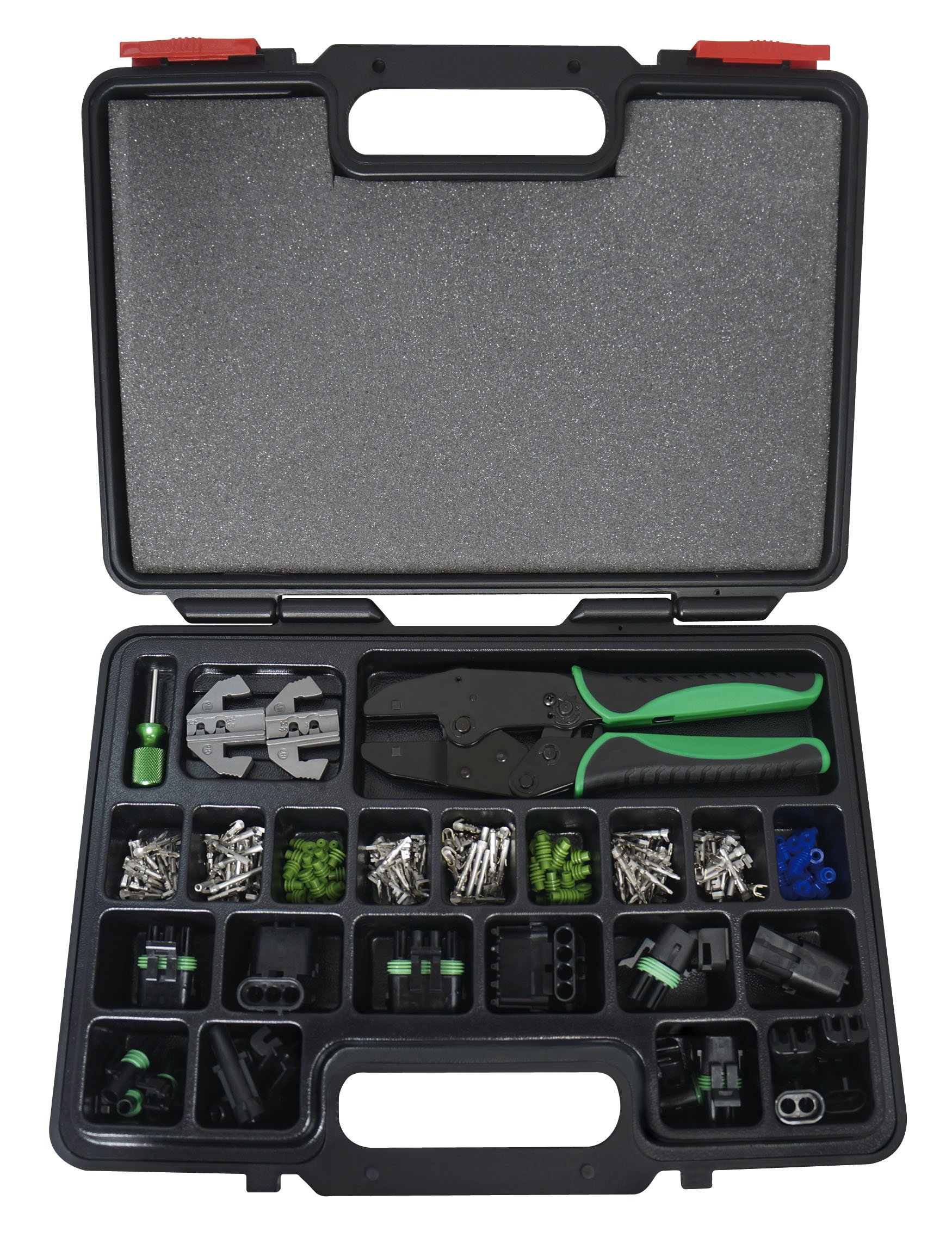 Astro Pnematic - 220Pc Weather Pack Interchangeable Ratcheting Crimping Tool & Accessory Set (model: 9478) by Astro Pneumatic Tool