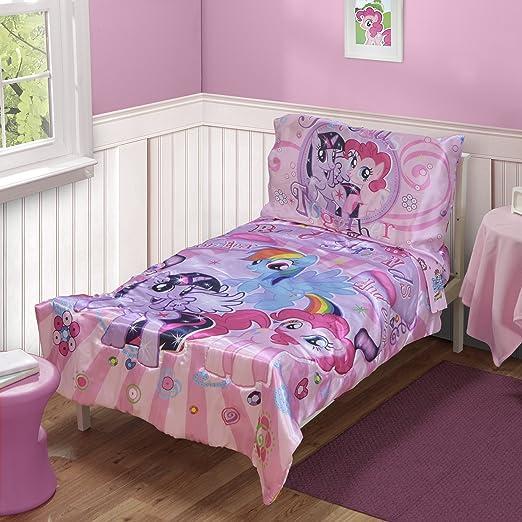 Amazon.com: My Little Pony bebé Bedding 4pc Set, Pink Little ...