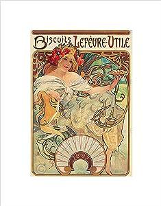 AD Food Biscuits Vintage Retro Nouveau Sweet France Art Print B12X6801