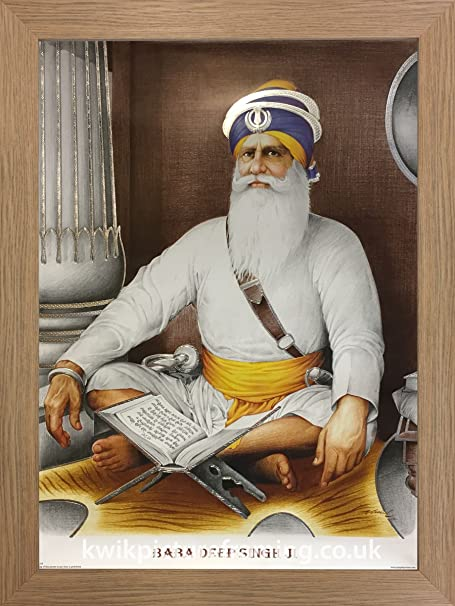 Kwik Picture Framing Ltd Baba Deep Singh Ji Damdami Taksal In Size