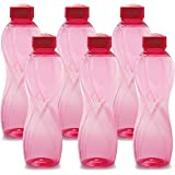 Cello Twisty PET Bottle Set, 1 Litre, Set of 6, Pink
