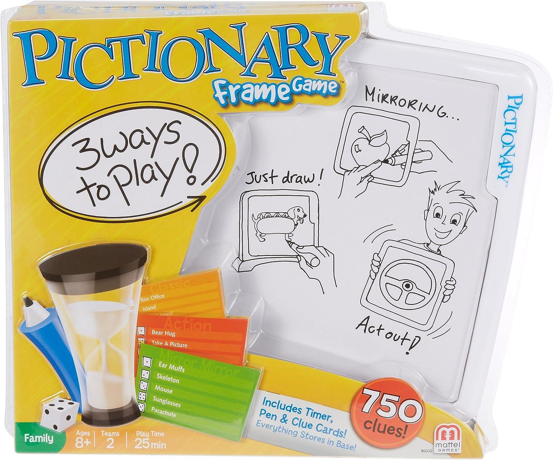 Amazon Com Pictionary Frame Game Toys Games