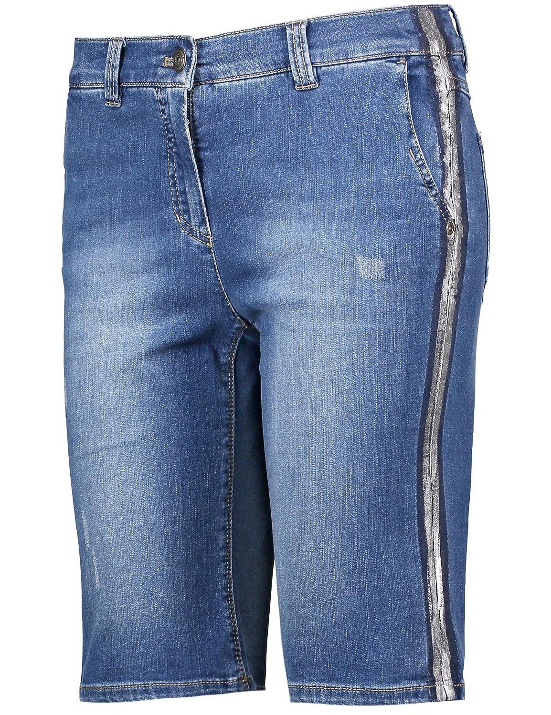 59a09eb6ac preiswerte Gerry Weber Casual/Edition Hose Jeans verkürzt Shorts mit  Metallicstreifen