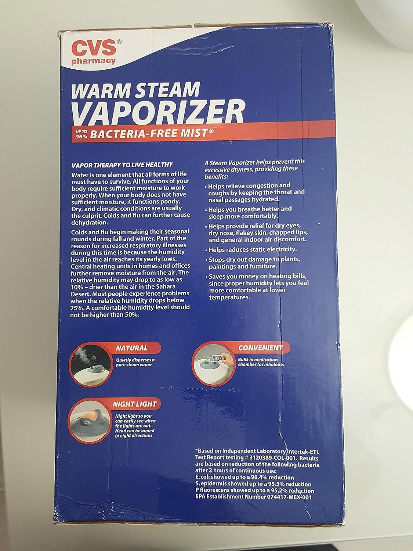 amazon com cvs pharmacy warm steam vaporizer 1 gal health