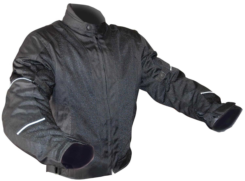 Black, XXX-Large Wayloo Mesh Design Motorcycle Jacket J2XXX
