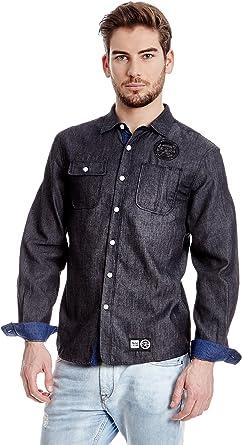 Akinolaude Camisa Hombre Gris Oscuro S: Amazon.es: Ropa y ...