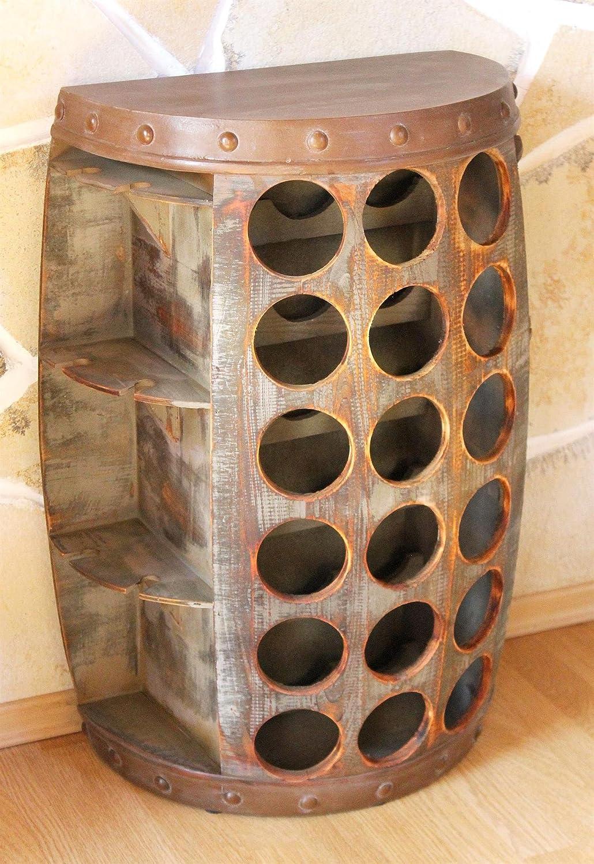 DanDiBo Weinregal Weinfass 1486 Beistelltisch Schrank Fass aus Holz ...