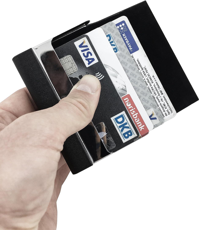 Porte Monnaie en Aluminium pour votre Portefeuille Porte Car SLIMPURO /® Bo/îte /à Pi/èces Universelle