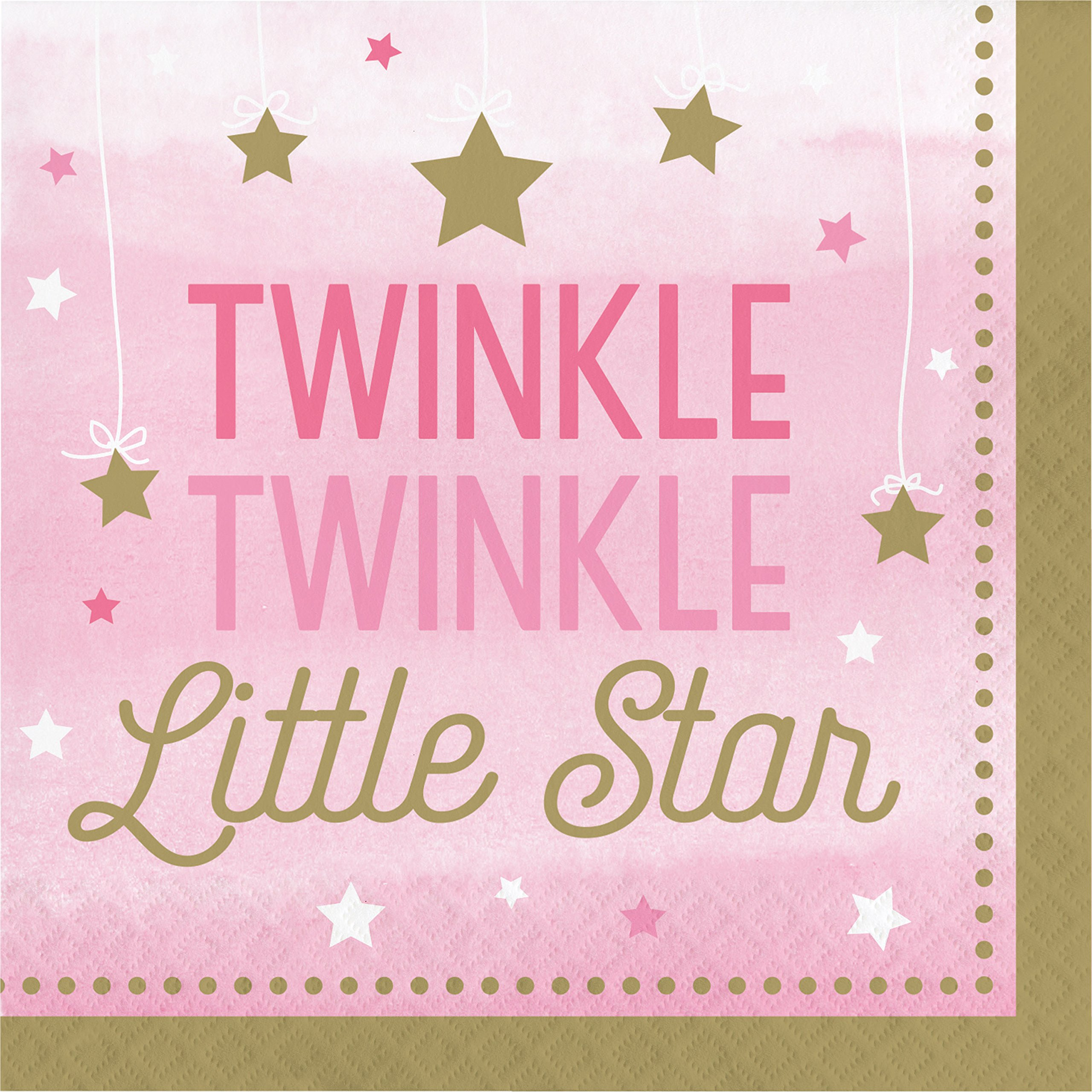One Little Star Girl Napkins, 48 ct by Creative Converting