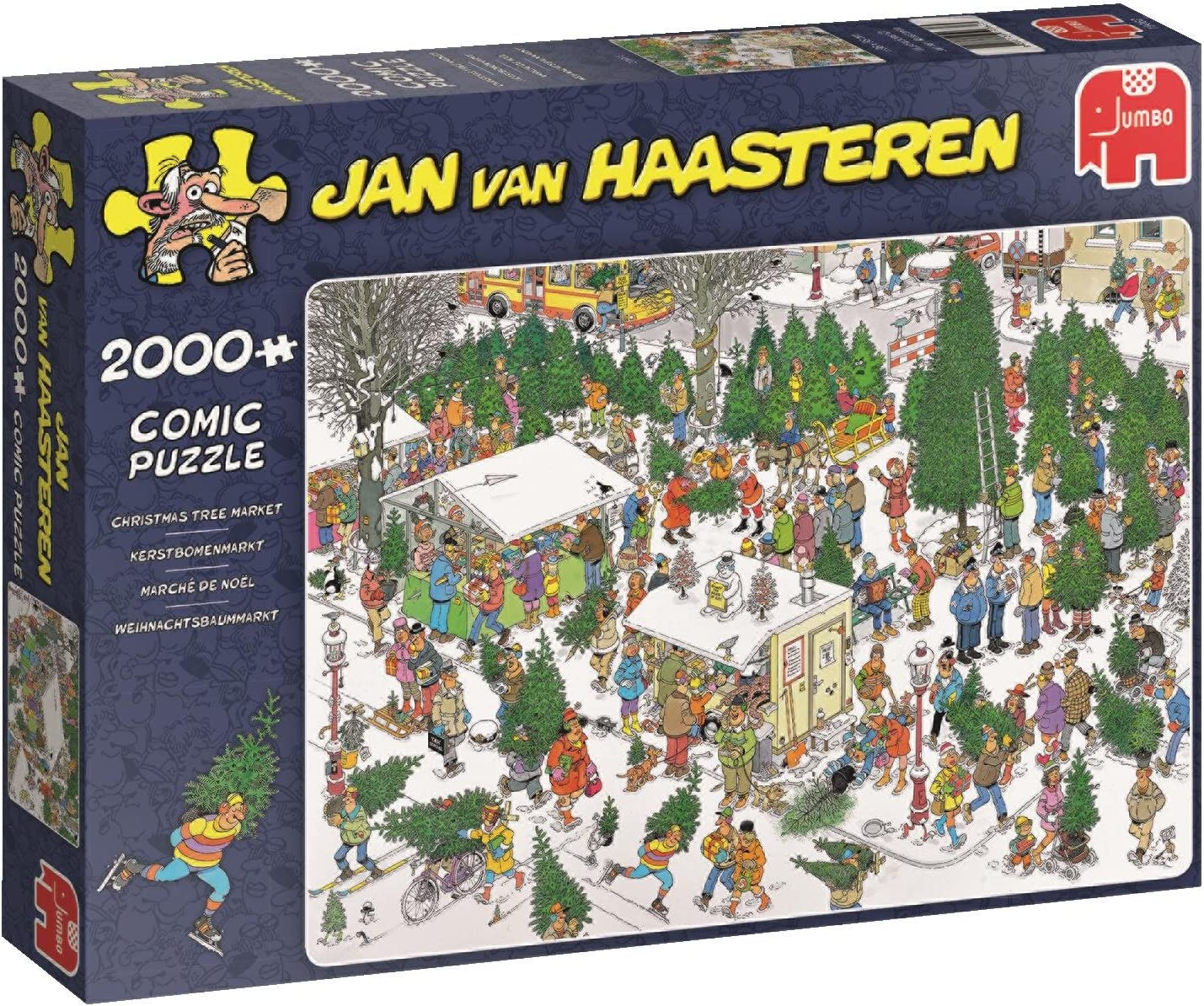 Multi JUMBO 19078 Jan Van Haasteren-The Cattle Market 2000 Piece Jigsaw Puzzle