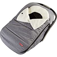 Skip Hop Winter Car Seat Cover: Ultra Plush Fleece, Heather Grey