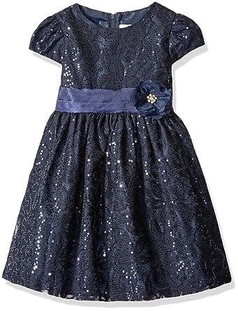 2d0a4a0dbb3 Amazon.com  Rare Editions Girls  Navy Lace Dress  Clothing